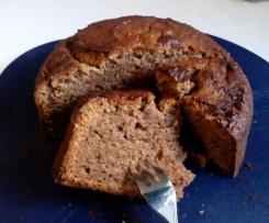 Walnuß-Marzipan-Apfel Kuchen