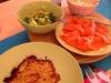 Kartoffel Rösti mit Frischkäse und Räucherlachs