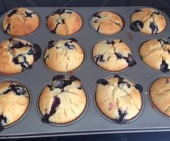 Buttermilch-Blaubeer-Muffins