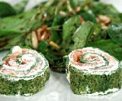Lachsfrischkäserolle mit Spinat