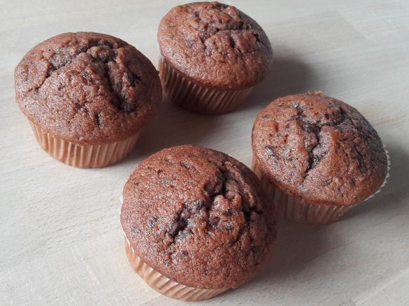 schoko bananen muffins von yvonnex ein thermomix rezept aus der kategorie backen s auf www. Black Bedroom Furniture Sets. Home Design Ideas