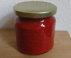 Erdbeermarmelade vegan und mit wenig Zucker