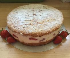 Erdbeer-Biskuit-Torte