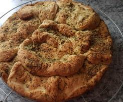 Knoblauchbrot mit Olivenöl