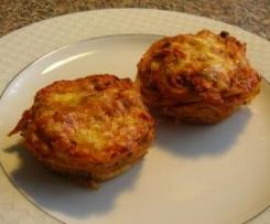 Spaghetti-Muffins mit Zucchini und Karotten