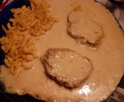 Nicoles leckeres Hackfleisch mit Zwiebel Käse Soße