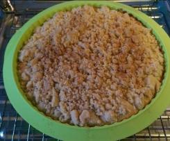 Apfelkuchen mit Streusel und Zimt