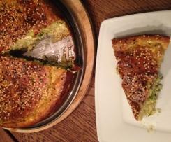 Zucchini Feta Kuchen