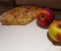 Apfelkuchen mit Rahmguss und Streusel