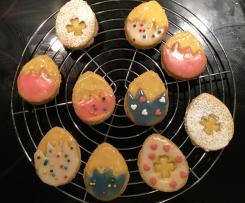 Süße Ostereier - Mit Lemon-Curd gefüllte Plätzchen / Kekse