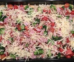 Spargel-Brokkoli-Tomaten-Quiche