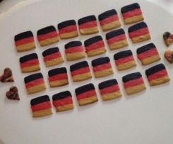 Deutschland-Kekse (Butterkekse) WM / EM Kekse