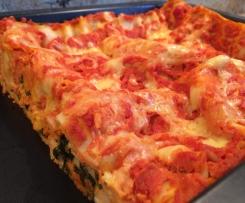 Möhren-Spinat-Lasagne