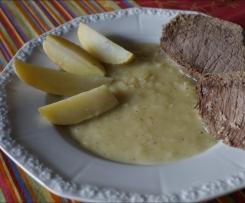 Tafelspitz mit Zwiebelsoße