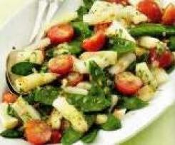 Spargel-Zuckerschoten-Salat