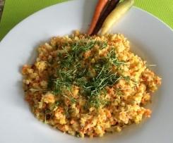 Rohkostsalat mit Ur-Möhren und Patisson Vegan