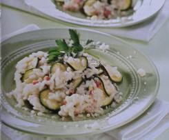 Zucchinirisotto mit Speck