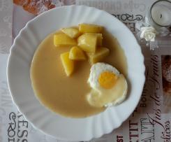 Senfeier mit verlorenen Eiern