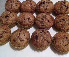 Bananen-Dinkel-Muffins mit Schokolade