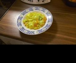 vegetarische Variation von Spitzkohl-Möhreneintopf