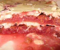 Rotweinzwetschgen-Tiramisu