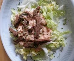 Chinakohlsalat mit Rindfleisch (WW Sattmacher)