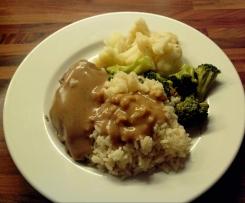 Hähnchenbrust Garam Masala mit Gemüse und Reis