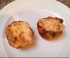 Variation von Schwarzbrot Muffins