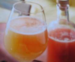 Rhabarber-Limetten Sirup