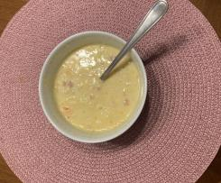 Variation Kartoffelsuppe mit Würstchen und Karotten Rezept des Tages 9.12.2013