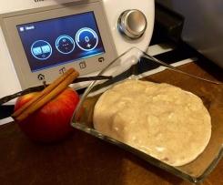 Vanillepudding mit Apfel und Zimt