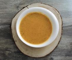 Zucchini-Paprika-Cremesuppe mit Chili