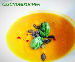 Karotten - Mango - Suppe mit Chili