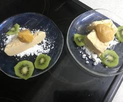 Bailey Eis mit Orangensauce