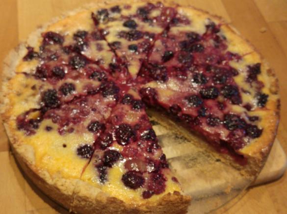 Beeren Tarte Mit Vanille Guss Schneller Beeren Kuchen Von Juliska