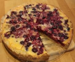 Beeren-Tarte mit Vanille-Guss, schneller Beeren Kuchen