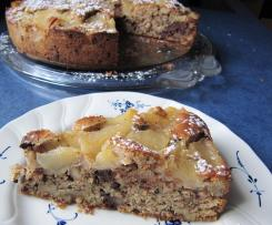 Obst-Schoko-Walnuss-Kuchen
