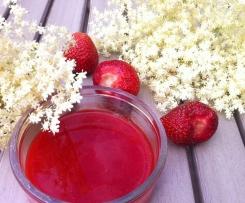 Erdbeer-Hollunderblüten-Marmelade
