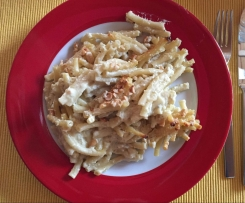 4-Käse-Makkaroniauflauf mit Nusskruste WW-tauglich
