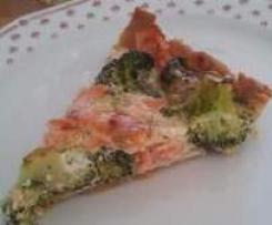 Quiche mit Lachs und Brokkoli