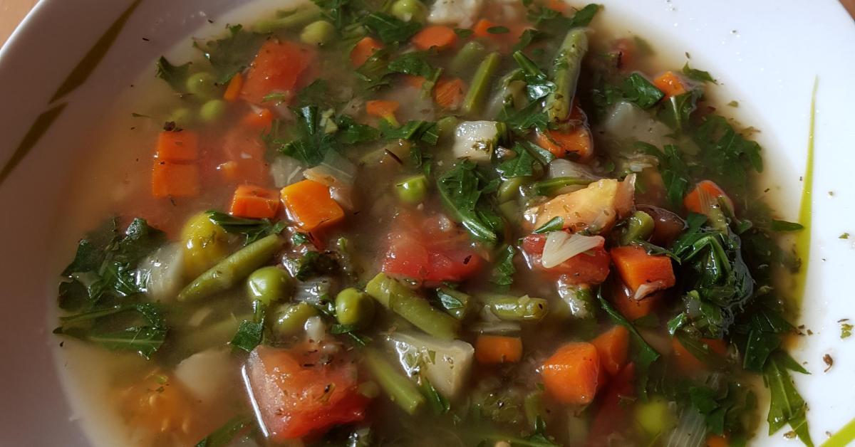 schnelle minestrone von avelh ein thermomix rezept aus der kategorie suppen auf www. Black Bedroom Furniture Sets. Home Design Ideas