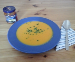 Karotten-Kokos-Curry-Suppe mit Ingwer