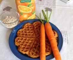 Fruchtige Karotten- Vollkornwaffeln