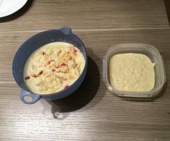 Variation 0vernight - Frühstück mit Apfel und Banane