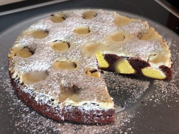 Schneller Schoko Vanille Kuchen Von Schirmle Ein Thermomix Rezept