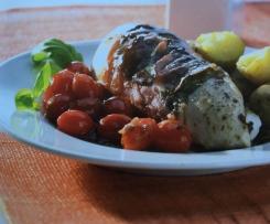 Hähnchenfilet mit Balsamico-Tomaten und Kartöffelchen