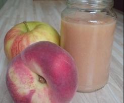 Pfirsich in Apfel