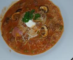 Spaghetti-Suppe