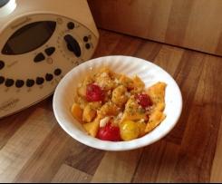 Kürbisnocken mit Tomaten