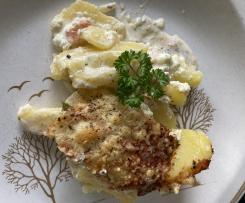 Kartoffel-Lachs-Auflauf mit Kräutern